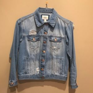 Forever 21 Embroidered Denim Jacket Small